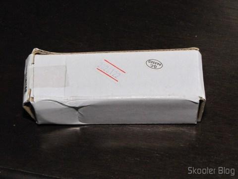 Caixa da Lanterna LED Ultrafire C3 de Aço Inoxidável Cree Q5-WC, 5 modos, memória, 190 lumens, 1 pilha AA ou 14500