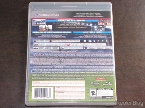 Verso da capa do PES 2011 - Pro Evolution Soccer