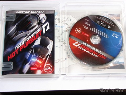 Manual e disco Blu-ray do Need For Speed: Hot Pursuit - Limited Edition (PS3)