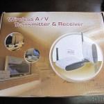 Caixa do Transmissor/Receptor A/V Sem Fio com Extensor de Controle Remoto 5.8GHz Pakite PAT-530