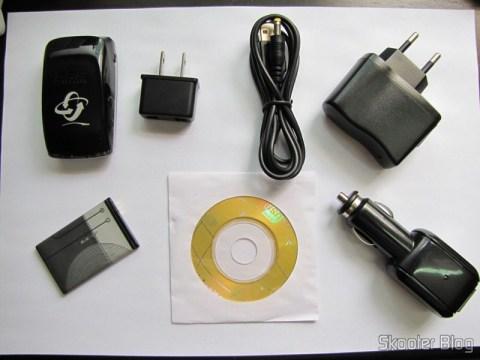 Receptor GPS Bluetooth para Navegação e Rastreamento com 20 canais e seus acessórios