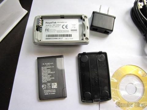 Receptor GPS Bluetooth para Navegação e Rastreamento com 20 canais e sua bateria