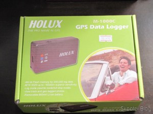 Box Bluetooth GPS Receiver HOLUX M-1000C with Recorder Travel Log, Rechargeable