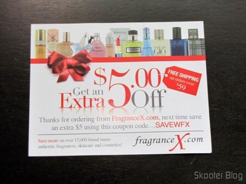 O Cupom de descontos da FragranceX para a próxima compra