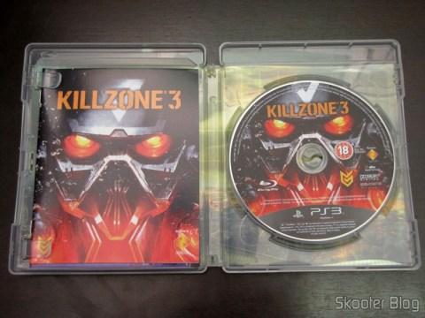 Manual e disco Blu-ray do Killzone 3 (PS3)
