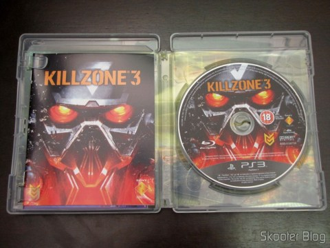 Manual e disco Blu-ray do Killzone 3 (PS3)