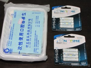 2 Kits 7 in 1 Tools for Surgery Dental Disposables and two cards with 4 AAA NiMH rechargeable 750mAh 1.2V GS Yuasa Enitime