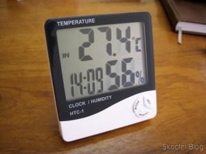 O Relógio-Termômetro-Higrômetro Digital