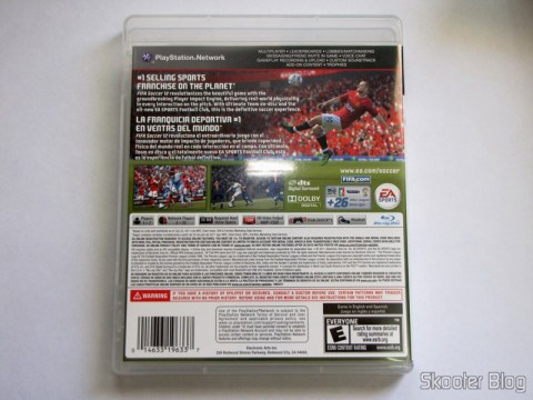 Capa traeira do Fifa Soccer 12 (PS3)