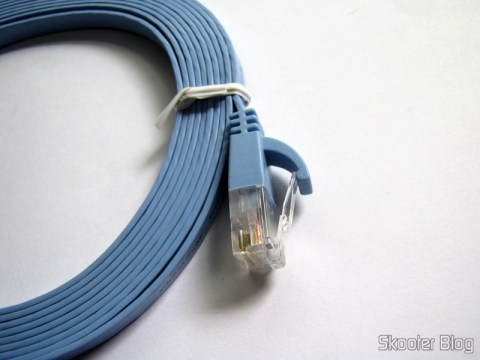 Cabo de Rede LAN Plano Cat6 RJ45 p/ Gigabit Ethernet com 3 metros