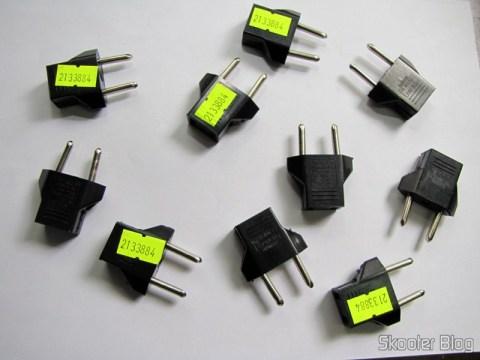 10 Adaptadores de Plug de Energia Plano para Redondo