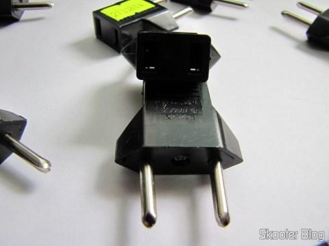 Detalhes dos Adaptadores de Plug de Energia Plano para Redondo