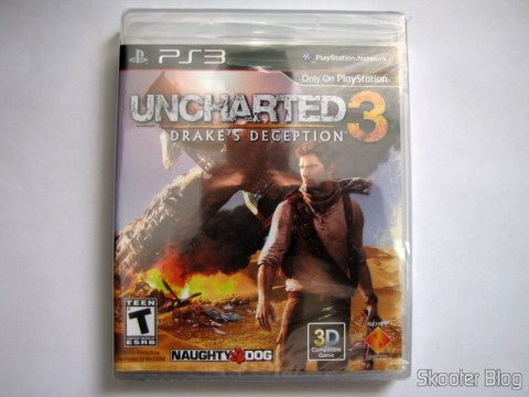 Uncharted 3: Drake's Deception (PS3), ainda lacrado