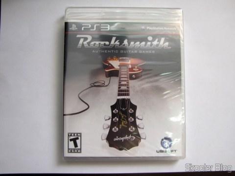 Caixa do blu-ray de Rocksmith (PS3) ainda lacrada