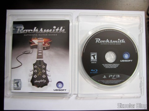 Manual e blu-ray de Rocksmith (PS3)