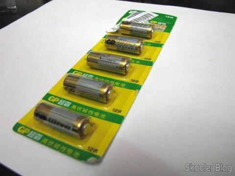 Pacote com 5 Baterias Alcalinas GP 23A-L5 12V de Alta Capacidade (GP 23A-L5 12V High-capacity Alkaline Batteries 5-Pack)