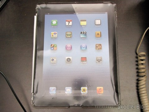 Capa de Policarbonato Cristal Transparente para a Traseira do Novo iPad (Stylish Crystal PC Case Cover for New iPad – Transparent)