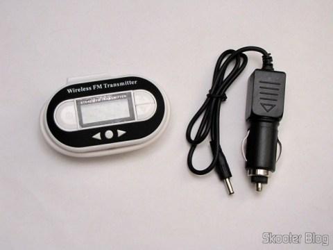 Transmissor FM Faixa Total com Porta USB C007B Preto (Fm Transmitter Full Range USB Port C007B Black)