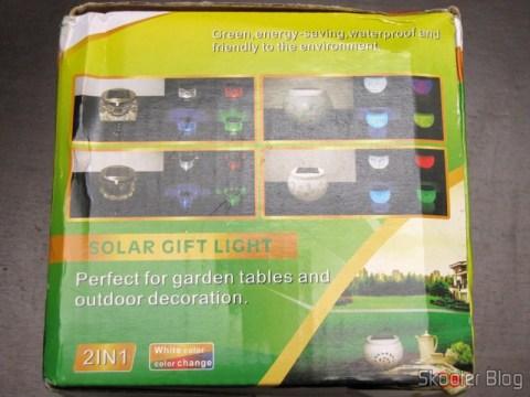 Caixa da Lâmpada Cerâmica Decorativa com Luz Multicolorida, Alimentada com Energia Solar, com Padrão de Folha de Maple, Branca