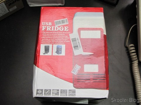 Embalagem da Mini Geladeira e Aquecedor USB (USB Mini Cooling Fridge)