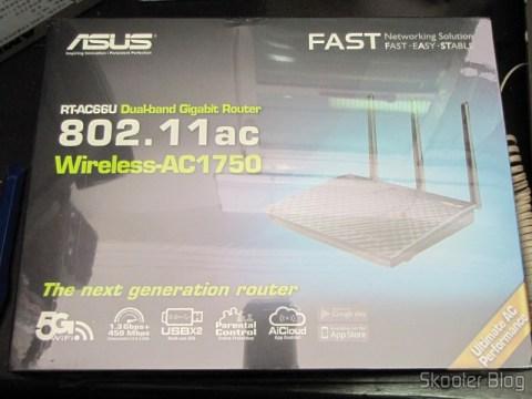 Caixa do Roteador Wireless Gigabit 1300Mbps ASUS RT-AC66U (ASUS RT-AC66U 1300 Mbps Gigabit Wireless Router)