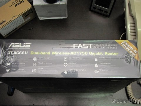 Box Wireless Router Gigabit 1300Mbps ASUS RT-AC66U (ASUS RT-AC66U 1300 Mbps Gigabit Wireless Router)