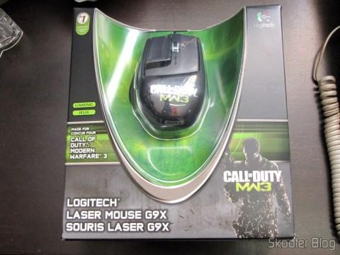 Mouse Logitech G9x - Edição Call of Duty: Modern Warfare 3 (New Logitech G9X Gaming Mouse Call of Duty: MW3 Edition) em sua embalagem