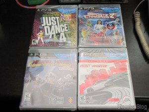 Just Dance 4 (PS3), Sports Champions 2 (PS3), Need for Speed Most Wanted (2012) (PS3), e Medieval Moves: Deadmund's Quest (PS3)