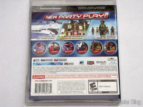 Parte traseira da caixa do Sports Champions 2 (PS3)