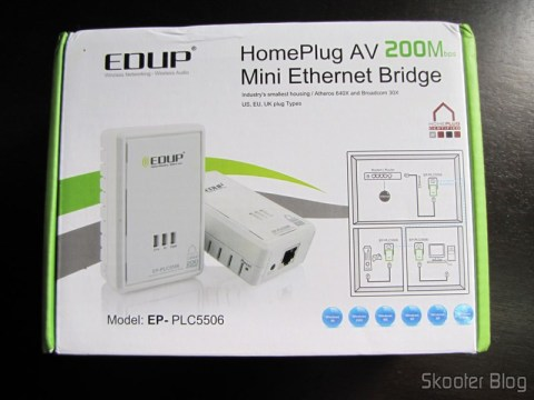 Communication Adapter Pair Network Powerline HomePlug 200Mbps EP-PLC5506 (EP-PLC5506 200Mbps Home Plug Powerline Network Communication Adapters (Pair))
