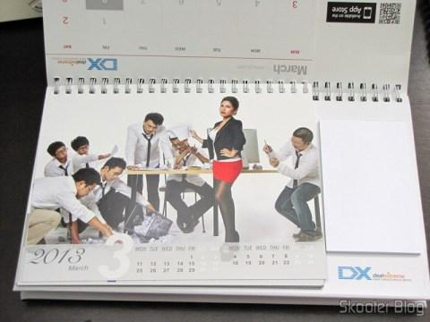 Desktop Calendar with Coupons for Discount 12 Months DX 2013 (DX 2013 Desk Calendar with 12 Months' Coupon Codes) - March