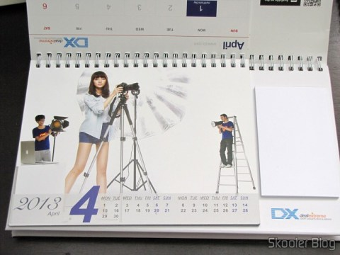Desktop Calendar with Coupons for Discount 12 Months DX 2013 (DX 2013 Desk Calendar with 12 Months' Coupon Codes) - April month