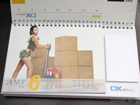 Desktop Calendar with Coupons for Discount 12 Months DX 2013 (DX 2013 Desk Calendar with 12 Months' Coupon Codes) - June