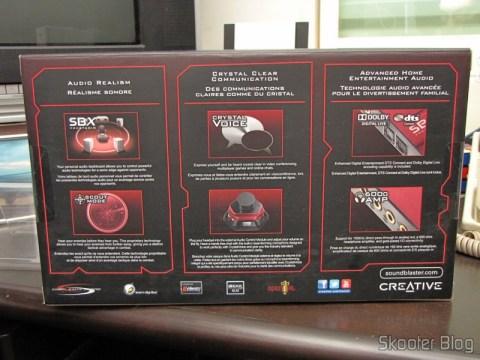 Caixa da Creative Sound Blaster ZX SBX PCIE Gaming Sound Card with Audio Control Module SB1506