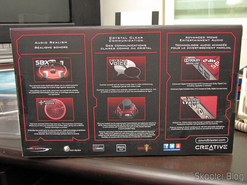 Amazon via Shipito: Placa de Som Creative Sound Blaster ZX