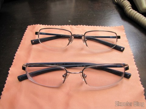 The first and the second pair of glasses degree Nike Flexon 4182 045 com slow Essilor Transitions 1.67