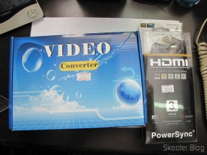 Conversor de Video de SCART + HDMI para HDMI (SCART + HDMI to HDMI Video Converter – Black) e Cabo HDMI PowerSync Genuíno Folheado a Ouro Macho/Macho c/ 3 Metros (Genuine PowerSync Gold Plated HDMI Male to Male M/M Connection Cable (3M-Length))