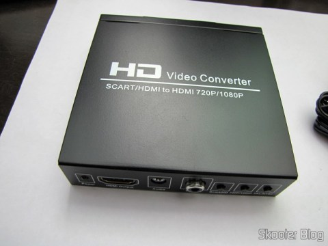 SCART Video Converter + HDMI to HDMI (SCART + HDMI to HDMI Video Converter – Black)