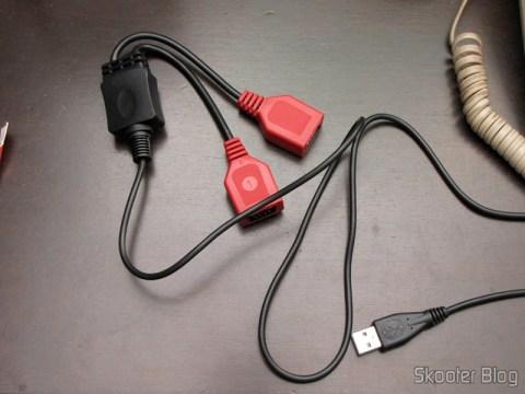 Adaptador para conectar dois Joysticks de Atari 2600 no PC via USB (NEW Dual Port PC Computer USB Port Controller Adapter for ATARI 2600 JOYSTICK)