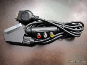 Cabo SCART RGB para Playstation 1/2 com Áudio e Saída para Guncon (RGB Cable with Audio and Guncon output)