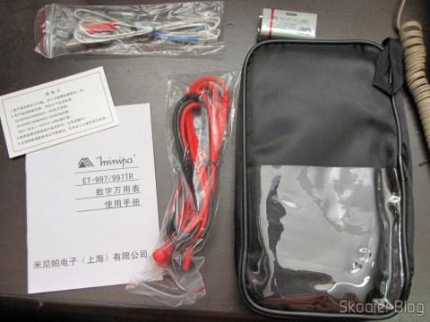 "Acessórios do Multímetro Digital Minipa ET-997 com LCD de 3.0"" (Tensão + Corrente + Resistência + Temperatura / 1*6F22) (ET-997 3.0"" LCD Handheld Digital Multimeter (Voltage + Current + Resistance + Temperature / 1*6F22))"