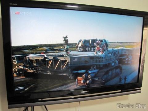 Conversor HDMI para VGA / Componente YPbPr / SPDIF, Colorido, Alta Definição (HDMI to VGA High Definition Color Converter w/ YPbPr / SPDIF - Black + White) funcionando em 1080i