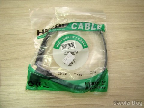 HDMI v1.4 Plan Male-Male 50cm (HDMI V1.4 Male to Male Flat Connection Cable - Black (50cm)) on its packaging