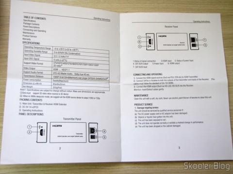 Manual de instruções do Conjunto Transmissor + Receptor Extensor de HDMI LINK-MI LM-EX11 (LINK-MI LM-EX11 HDMI Extender Transmitter + Receiver Set - Black)