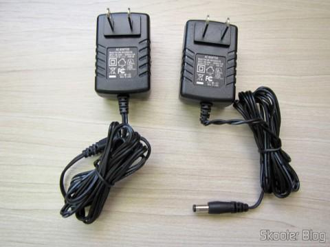 Fontes de alimentação do Conjunto Transmissor + Receptor Extensor de HDMI LINK-MI LM-EX11 (LINK-MI LM-EX11 HDMI Extender Transmitter + Receiver Set - Black)