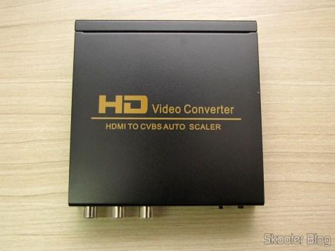 Conversor de HDMI para Vídeo Composto (CVBS) + Áudio Estéreo (HDMI to CVBS Video Converter)