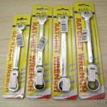 Chaves Combinadas (Chaves de Boca) com Catraca Articulada Aço Cromo-Vanádio REWIN 8mm, 10mm, 11mm, e 12mm