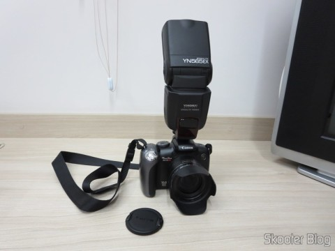 "The Canon PowerShot SX10 IS that usually do the photos you see here in Skooter Blog, com o Flash Flash TTL YongNuo Speedlite YN565EX c / LCD 2.0 ""para Canon DSLR (YongNuo Y565EX 2.0″ LCD TTL Flash Speedlite Speedlight for Canon DSLR – Black (4 x AA)), you've seen here in Skooter Blog, coupled."