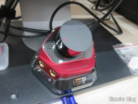 Controle de Volume da Placa de Som Creative Sound Blaster ZX SBX PCIE Gaming Sound Card with Audio Control Module SB1506 - que você também já viu no Skooter Blog