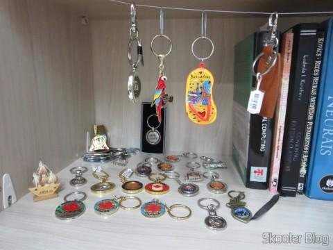 Parte da minha coleção de chaveiros
